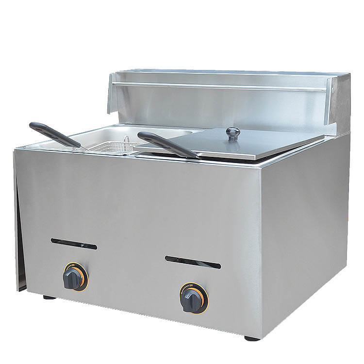 Gas Fryer with Cover
