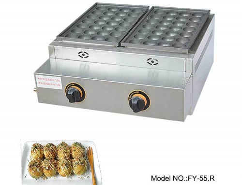 Commercial Gas Takoyaki Machine with Teflon Coating Nonstick