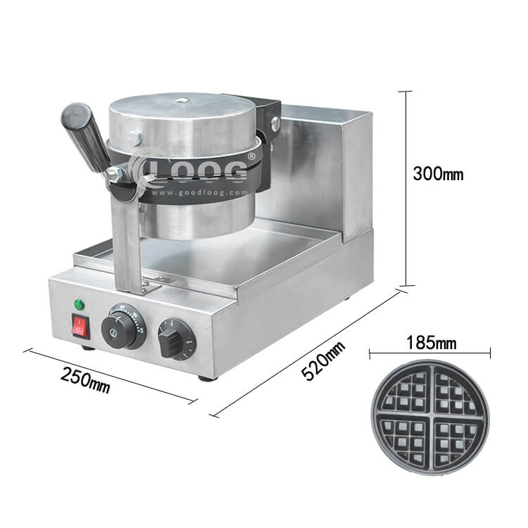 Size of Rotating Waffle Maker