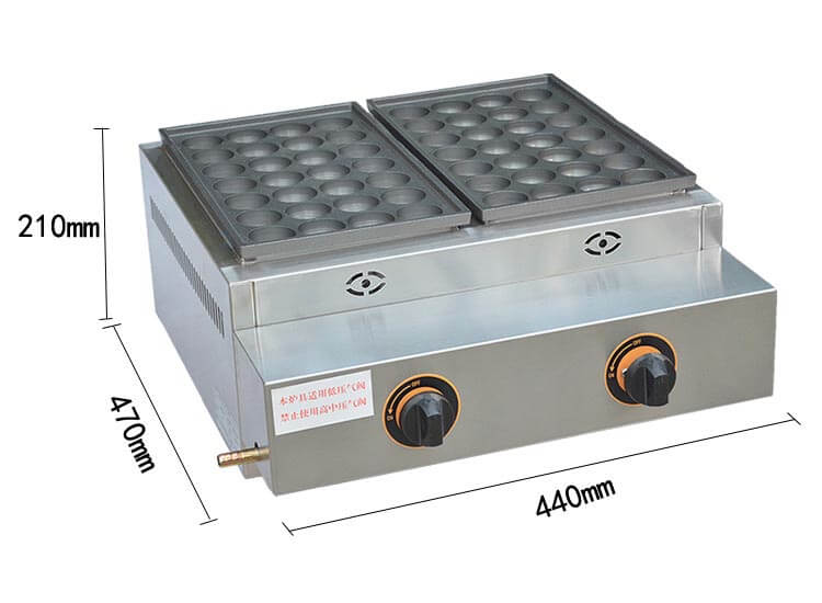 Snack Equipment Gas Fish Ball Oven