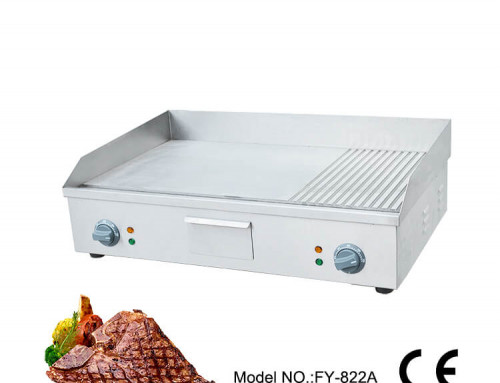 Countertop Half Grooved Griddle Commercial Electric Grill