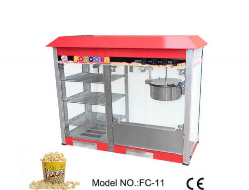 Popcorn Maker with Warmer Showcase Stainless steel