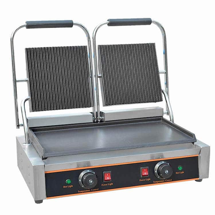 Upper Grooved Contact Grill