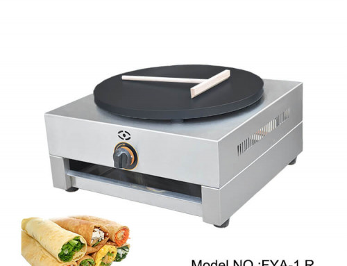 Gas Crepe Maker Machine with Non-stiky Telfon Coating
