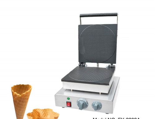 Commercial Ice Cream Waffle Cone Maker Teflon Coating Surface