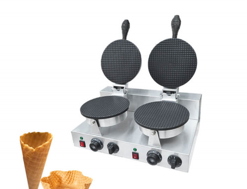 Ice Cream Waffle Cone Maker Commercial with Double Aluminum Plate