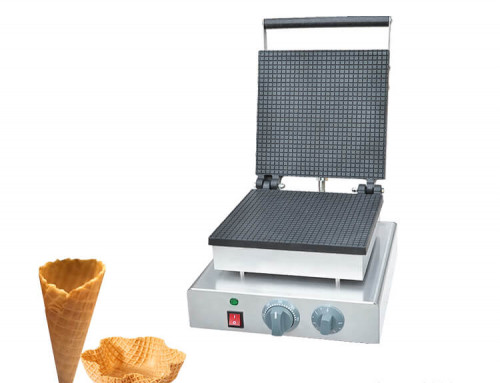 Waffle Cone Maker Commercial Stroopwafel Machine Single Plate