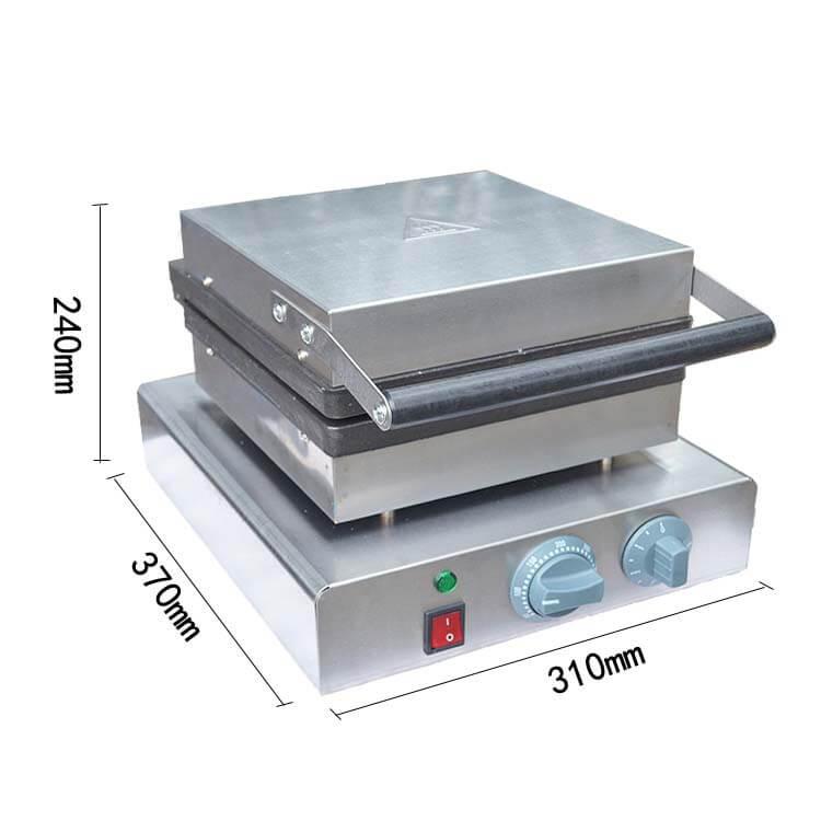 Stainless Steel Flip Belgian Waffle Machine