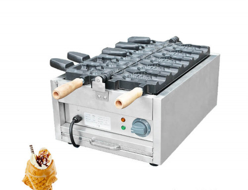 Electric Taiyaki Maker 5 Fishes Shaped Taiyaki Machine