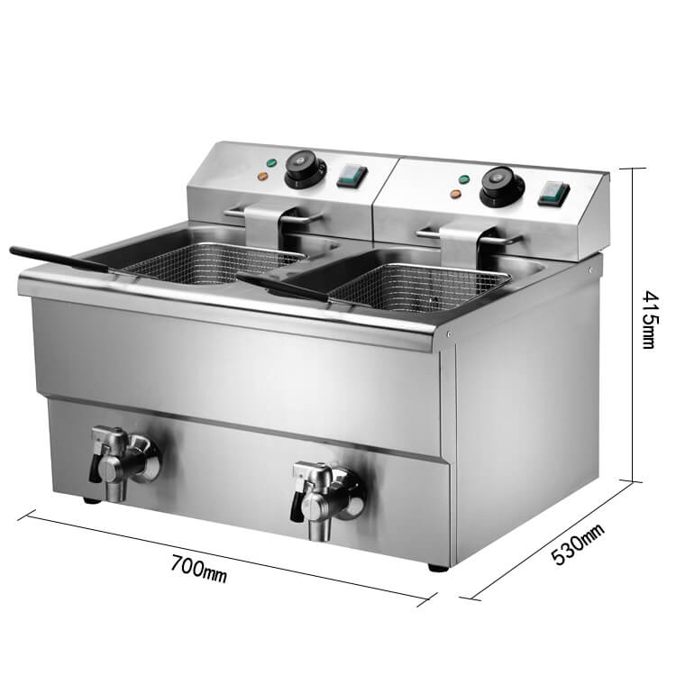 Size of Commerical Deep Fryer