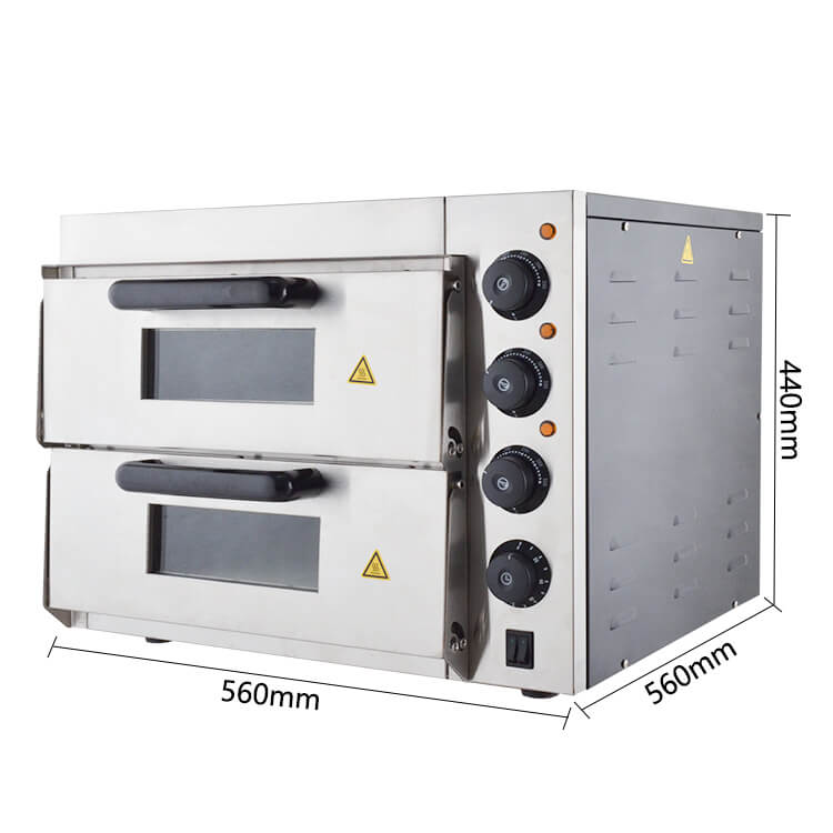 Double Deck Pizza Oven Commercial