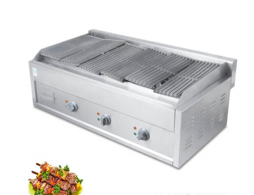 Lava Stone Grill Commercial Countertop Electric With Lava Rocks