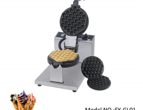 Commercial Bubble Waffle Maker With Changeable Plate