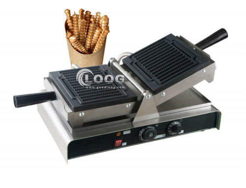 Waffle on a stick maker for commercial use