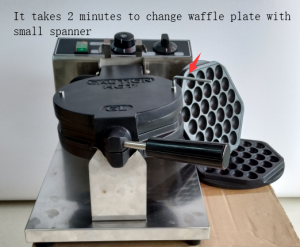 Easy to change waffle plate
