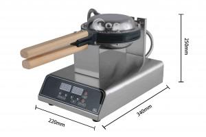 Bubble waffle maker size