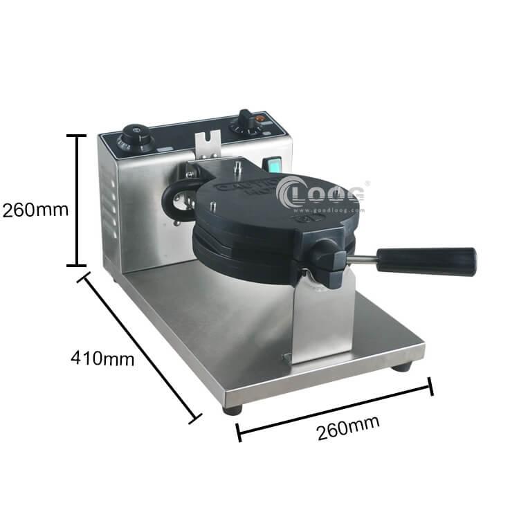 Belgian waffle maker size