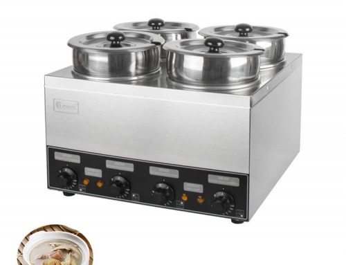 Electric Bain Marie With 4 Stainless Steel Pots For Kitchen