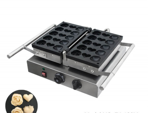 Waffle Baker Commercial Electric Rose Waffle Machine Supplier