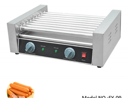 Hot Dog Roller Grill With 9 Roller For Kitchen Equipment Factory